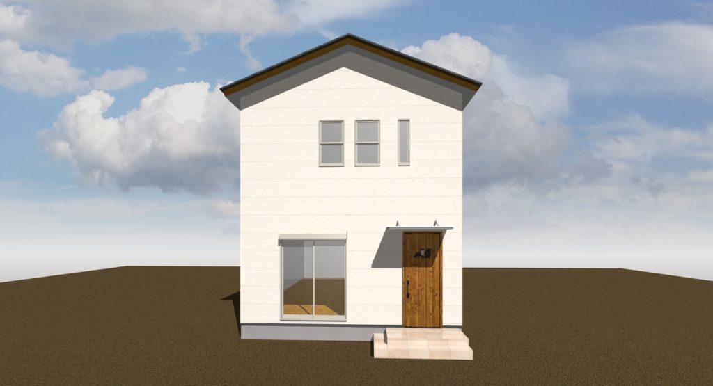 シンプルな形の建物