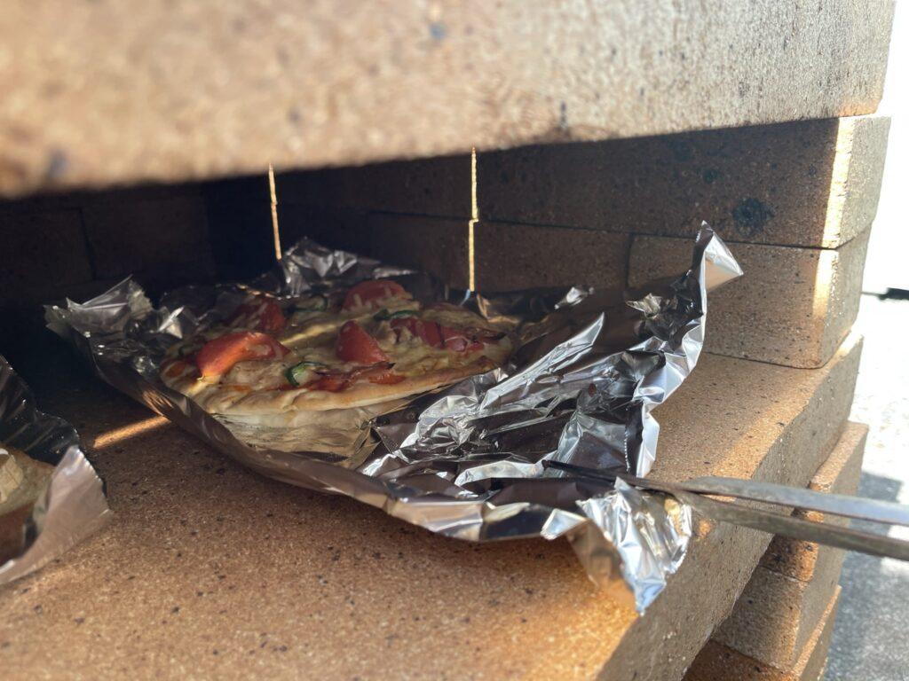 ピザを投入した状態